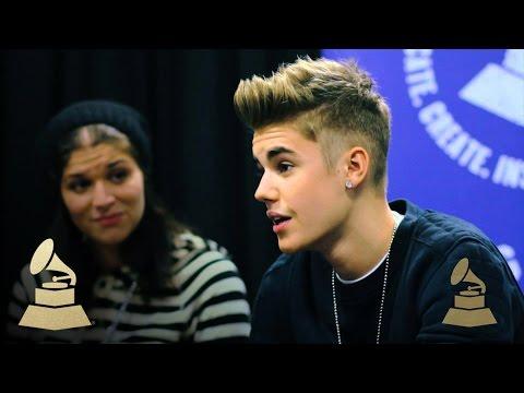 Justin Bieber - Best Part Of Being An Artist | GRAMMYs