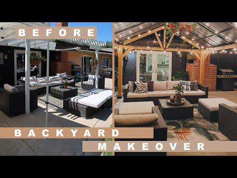 DIY Outdoor Entertaining Area Makeover | Easy Backyard Update Tips + Tricks