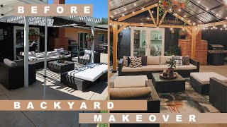 DIY Outdoor Entertaining Area Makeover | Easy Backyard Update Tips + Tricks