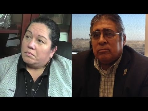 Chukchansi tribal leaders Nancy Ayala, Reggie Lewis