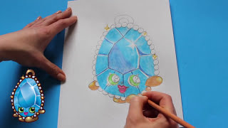 """How to Draw Shopkins Season 3 """"Brenda Brooch"""" Step By Step Easy   Toy Caboodle"""