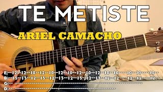 vuclip Ariel Camacho - Te Metiste - Tutorial - Requinto - Acordes - Como tocar en Guitarra