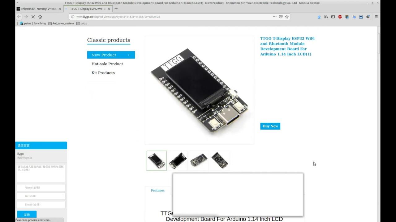 How to start with TTGO ESP32 T-Display in Arduino IDE