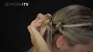 tutorial de penteado sephora usando o headband nos cabelos