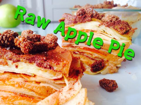 Raw Vegan Apple Pie Recipe Quince Persimmon Cream Low Fat 80 10 10