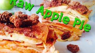 Raw Vegan Apple Pie Recipe Quince Persimmon Cream Low Fat 80 10 10