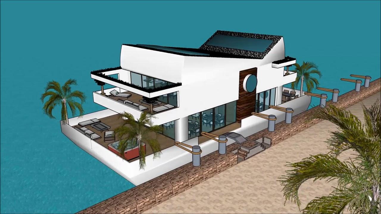 Calatagan Malaysia Sketchup floating house design 3D 2018 ...