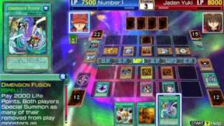 Yu-Gi-Oh GX Tag Force 3 The 3 Egyptian God Cards Vs jaden