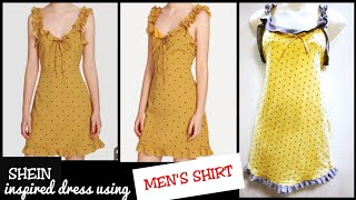 Download Video DIY : Recycle/Reuse Mens shirt Into Beautiful Dress in 5 minutes~ MP3 3GP MP4