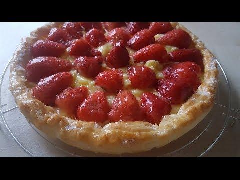 feuilletée-aux-fraises-&-à-la-crème-vanille-facile-et-rapide