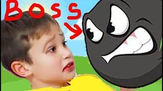 КРАСНЫЙ ШАР МИСТЕР МАКС против БОССА, нашел Рокершу, конец мультик игра Детский летсплей #41