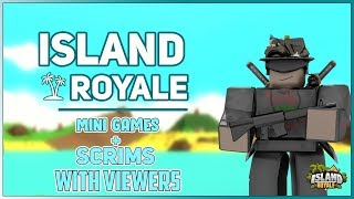 🔴[Live] Roblox Island Royale 🌴 Scrims & Minigames with Viewers [New Edits/Pyramids Update] 🔴