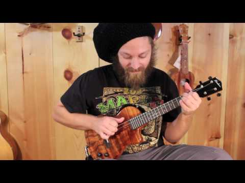 Mike Love - Koolau CE-2 Electric Tenor Ukulele - Redwitch pedals
