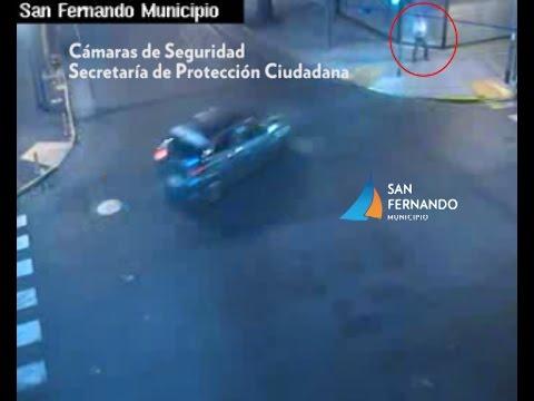 Espectacular choque en San Fernando tomado por cámaras de seguridad