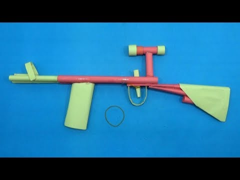 How To Make a Paper Rifle That Shoots Rubber Band Far | Paper Gun Toy Making Easy