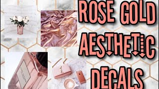 Roblox Bloxburg - Rose Gold Aesthetic Decal Id's