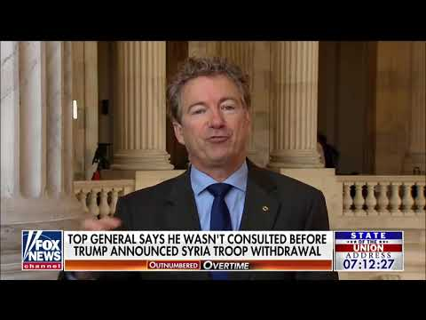 Sen Paul On Trump&39;s Decision To Witraw From Middle East