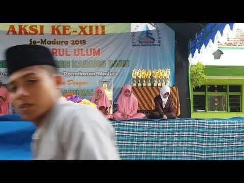 Sang Juara Lomba Baca Kitab Kuning Se-Madura Santri PP.  Sumber Baru Al-Falah Dempo Barat