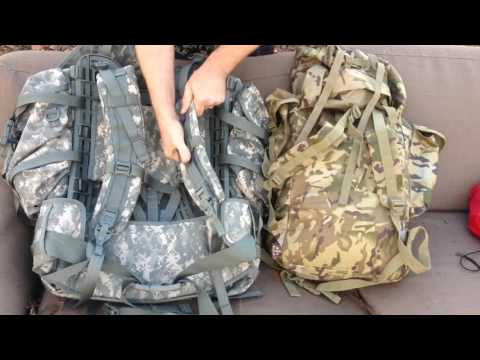 US ARMY MOLLE II LARGE RUCKSACK Vs BRITISH MTP CADET BERGEN