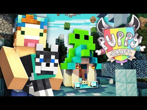 PUPPYCRAFT (Ep 4) - Building A Sanctuary for Puppy Teal!