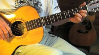 EZ Fingerpicking Blues Lesson in drop D tuning TABLATURE available