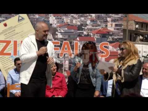 Report TV - Gruaja:E kam burrin në çadër Rama:O Zot ç'qenke,nga ti ka ikur