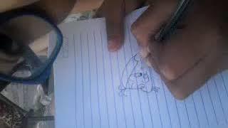 Desenhando magali bem bonita