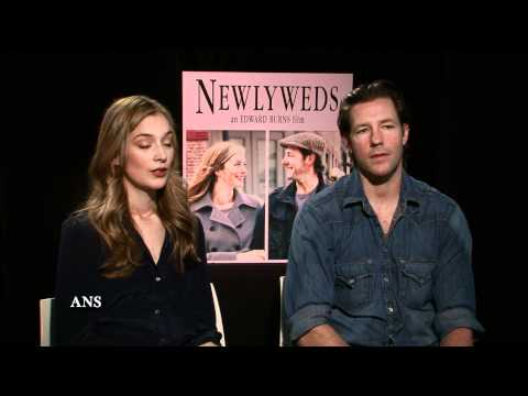 ED BURNS AND CAITLIN FITZGERALD NEWLYWEDS: