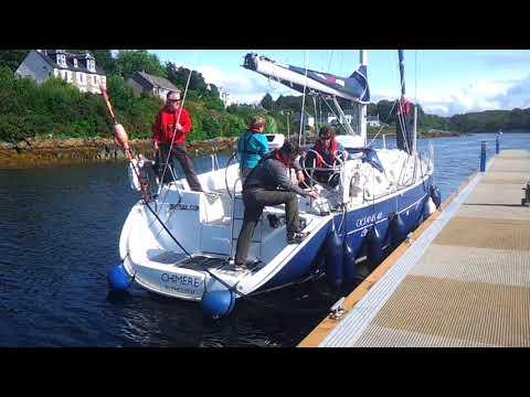 RYA Day Skipper : Boat Handling - Spronging in Tarbert Harbour