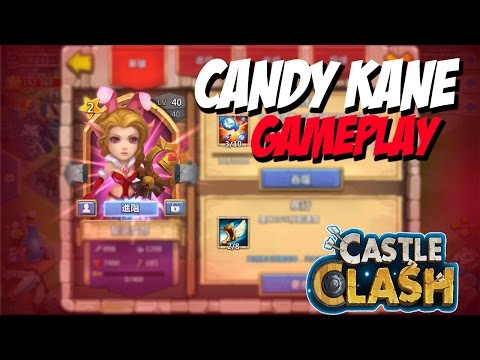 Castle Clash Candy Kane In Action/Gameplay
