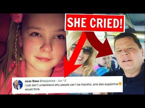 JOJO SIWA CRIES AFTER SHE LIES ABOUT HER DAD'S DEATH! JOJO SIWA CRYING!