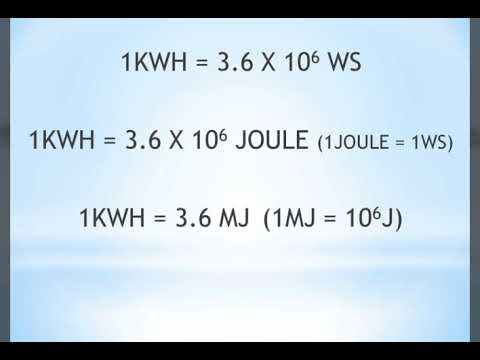 How To Convert Kwh To Joule Youtube