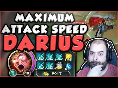 HOW STUPID IS MAX ATTACK SPEED (2.5) ON DARIUS? NEW ATTACK SPEED DARIUS GAMEPLAY - League of Legends