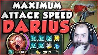 HOW STUPID IS MAX ATTACK SPEED (2.5) ON DARIUS? NEW ATTACK SPEED DARIUS GAMEPLAY - League of Legends