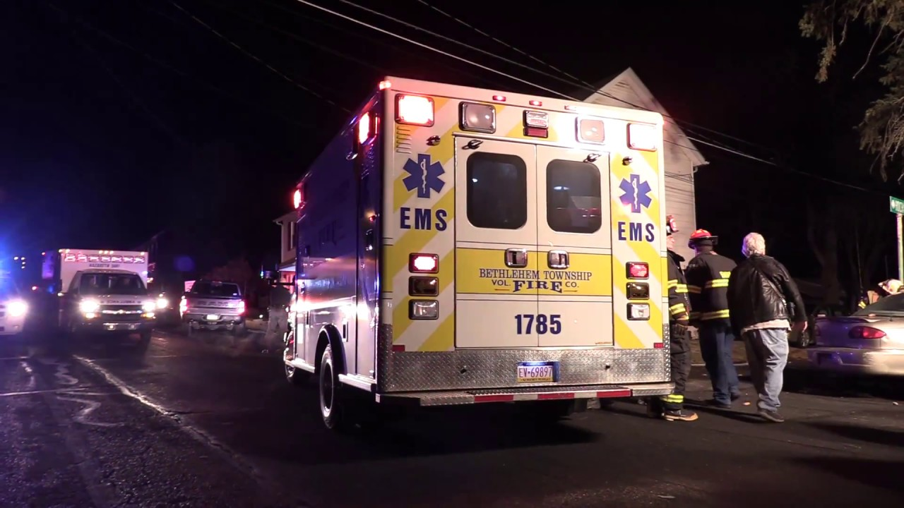 2nd Accident in Bath 1/21/18 - Auto Extrication 137 Broad St Bath, PA