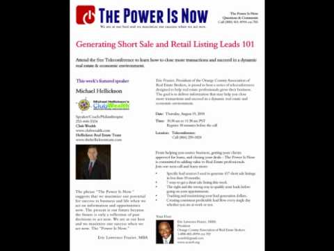 Generating short sale and retail listing leads 101...