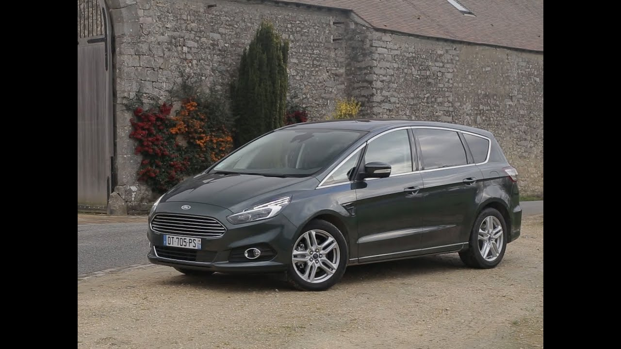essai ford s max 2 0 tdci 150 powershift titanium 2016 youtube. Black Bedroom Furniture Sets. Home Design Ideas