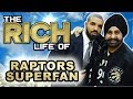 Nav bhatia  the rich life  50 million dollar toronto raptor super fan