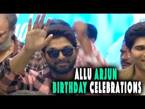 Allu Arjun Birthday Celebrations at FNCC -...