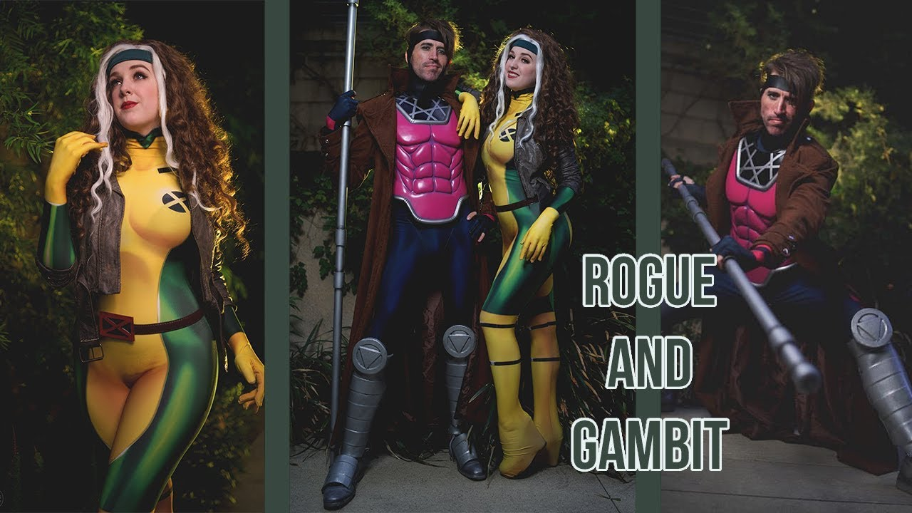 Rogue and Gambit Cosplay BTS  sc 1 st  YouTube & Rogue and Gambit Cosplay BTS - YouTube
