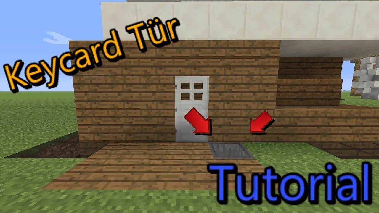 minecraft keycard t r bauen tutorial youtube. Black Bedroom Furniture Sets. Home Design Ideas