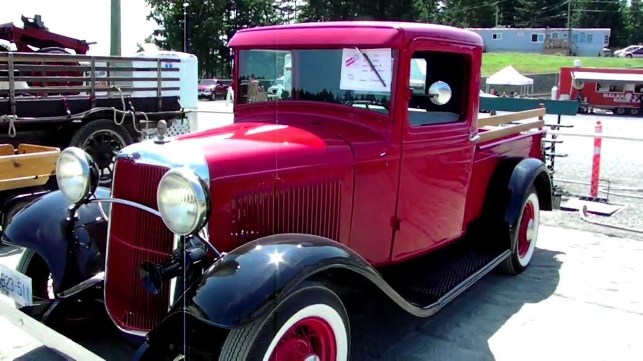 1933 Ford Pick up Truck Filmed at the Antique Truck Show ,Duncan BC ...