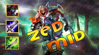 Zed MID Vs Malzahar   Combo Like Faker   Poke And Run   Build And Play   League Of Legend