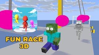 Monster School  FUN RACE 3D CHALLENGE   M NECRAFT AN MAT ON