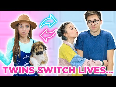 IDENTiCAL TWiNS SWiTCH LiVES FOR 24 HOURS | I kissed my sisters boyfriend!