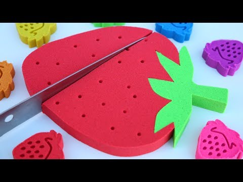 Thumbnail: DIY How To Make Kinetic Sand Giant Strawberry Best Learning Colors Kinetic Sand Hulk