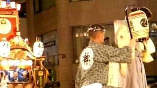 関東一の祇園 熊谷うちわ祭り2008、7月22日 手締めです 前編 後編が有り...