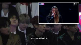 Download 171201 BTS Jungkook reaction to Ailee @mama2017