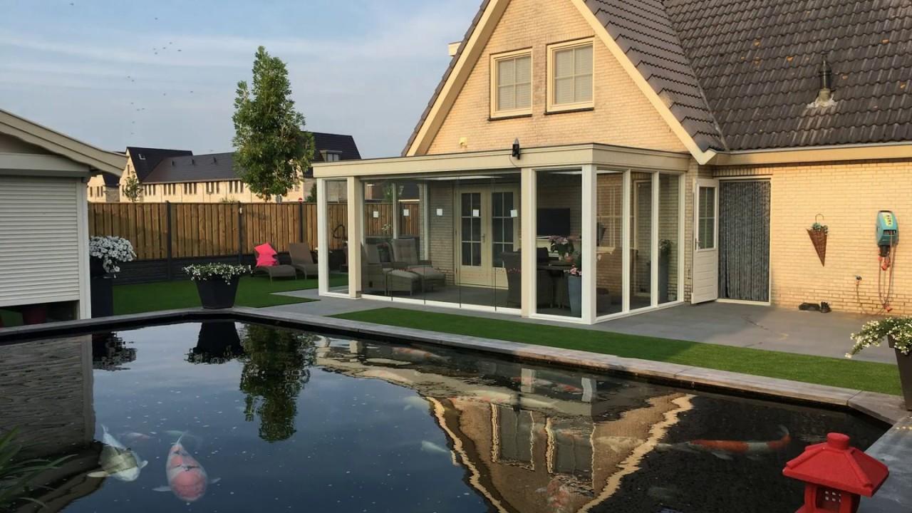 Luxe hout beton schutting koi vijver mooiste tuin van for Vijver afwerking hout