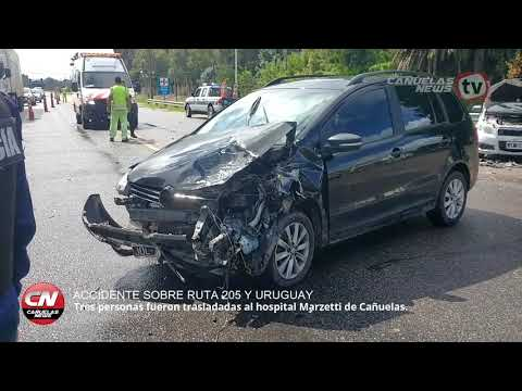 Accidente en Ruta 205 y Uruguay